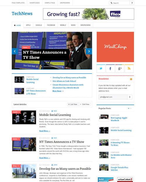 Templatic TechNews Theme