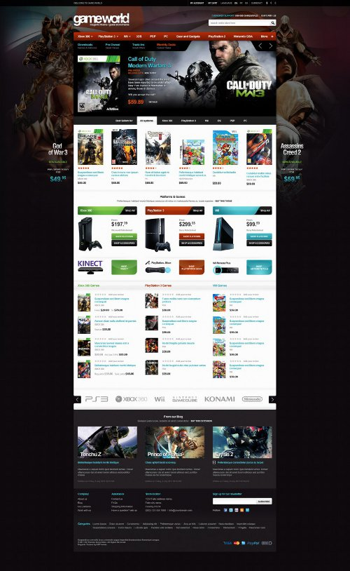 Em Gameworld - Game Store Magento Theme