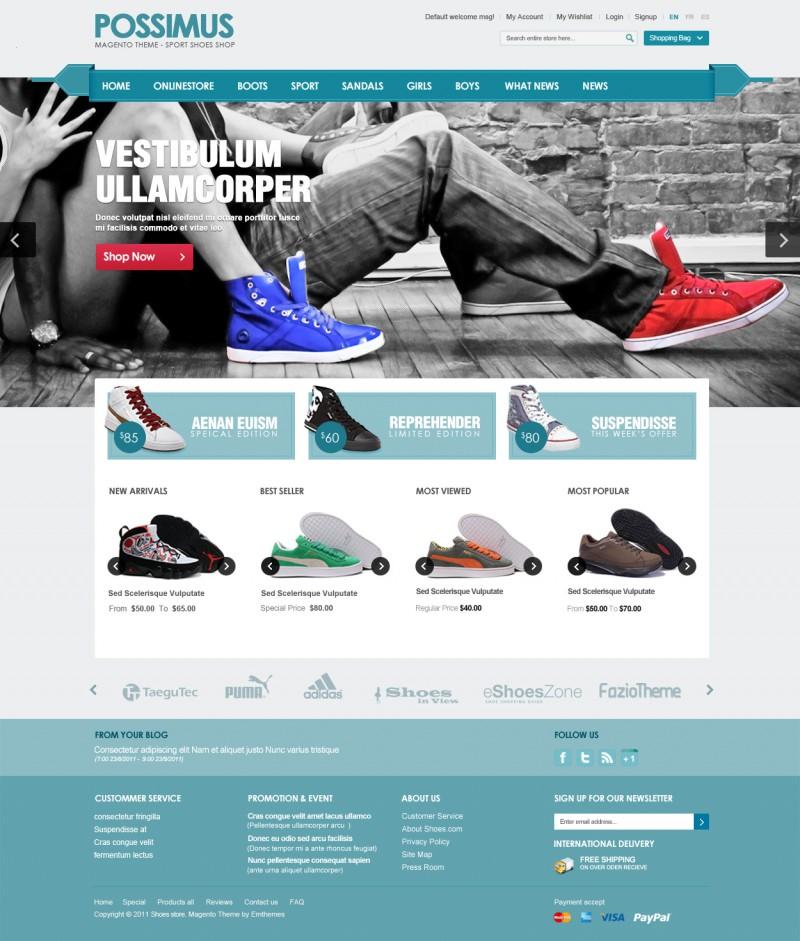 Em Possimus - Sport Shoes Magento Theme