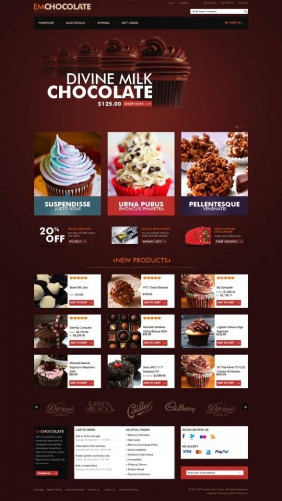 Em Socola - Chocolate Magento Theme