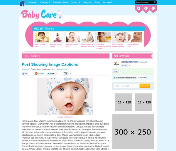 ThemesDesk Baby Theme