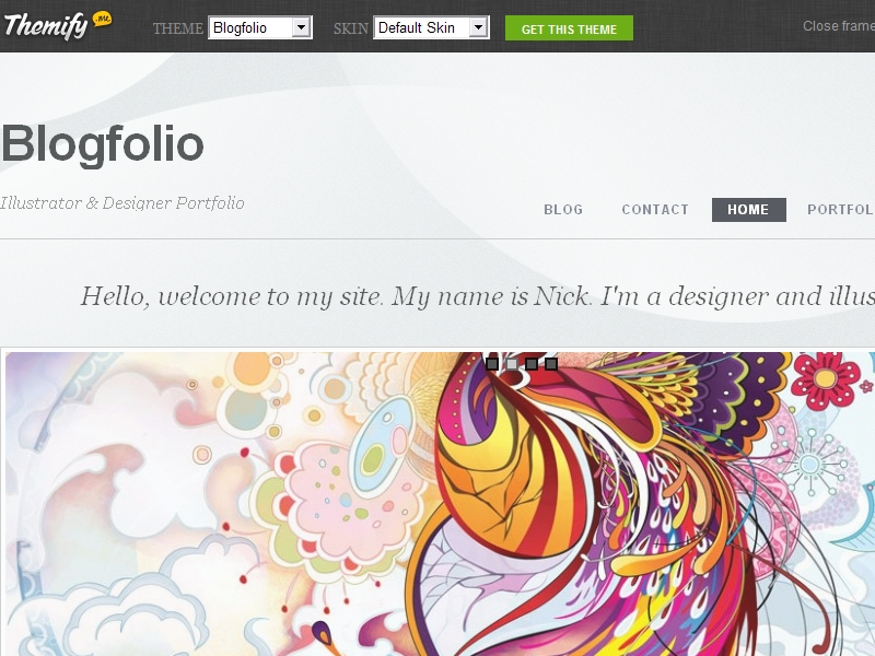 Themify Blogfolio Theme