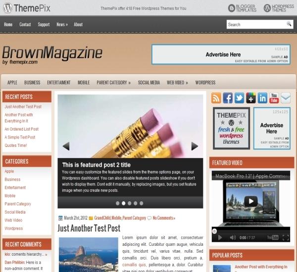 Themepix BrownMagazine Theme