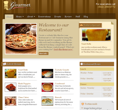 Templatic Restaurant Theme