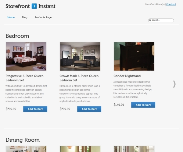 Storefront Instant Theme
