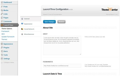ThemeWarrior LaunchTime Theme