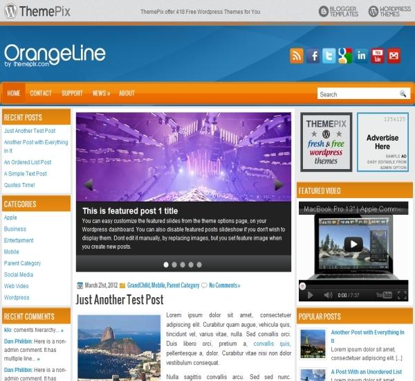 Themepix OrangeLine Theme