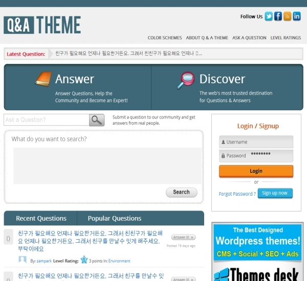 ThemesDesk Q&A Theme
