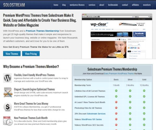 Solostream Premium WordPress Themes