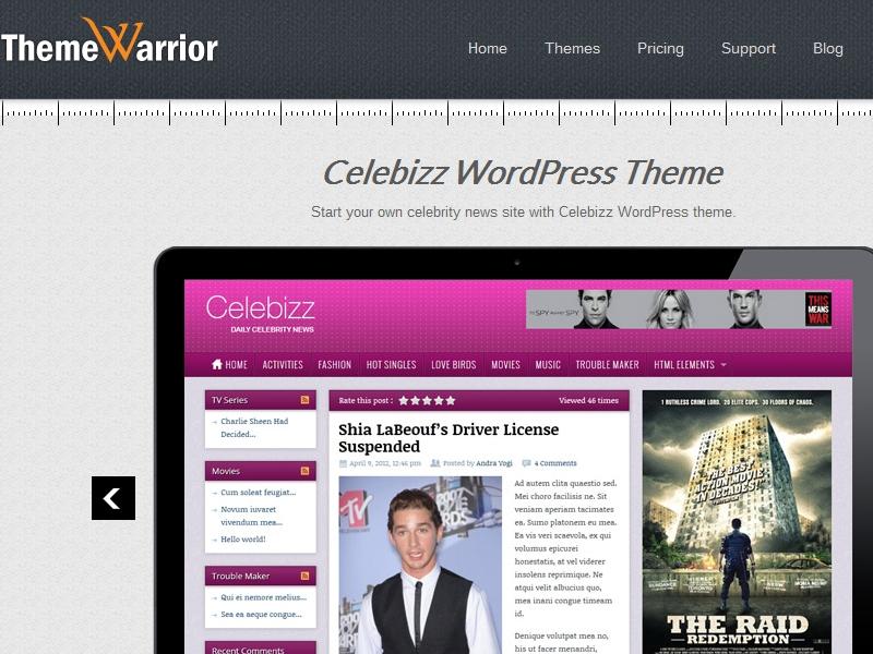 ThemeWarrior Celebizz Theme