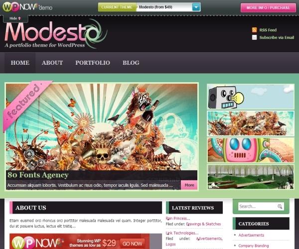 Wpnow Modesto Theme