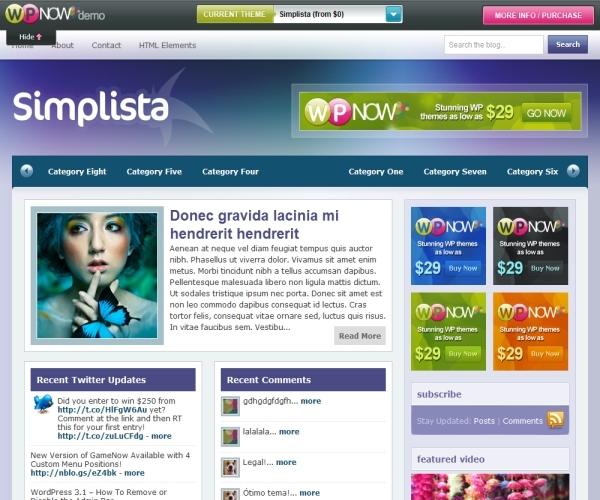 Wpnow Simplista Theme