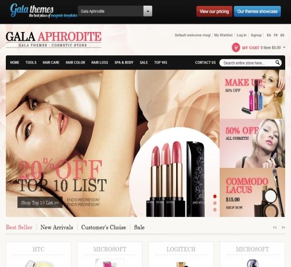 Beauty Store Magento Theme - Gala Aphrodite