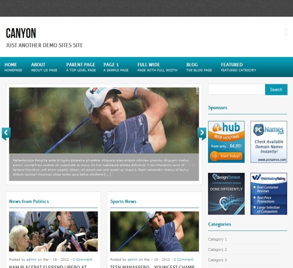 FabThemes Canyon Theme