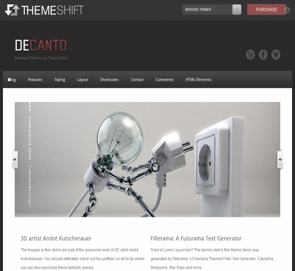 ThemeShift Decanto Theme