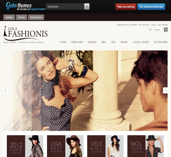 Fashion Magento Theme - Gala Rossi