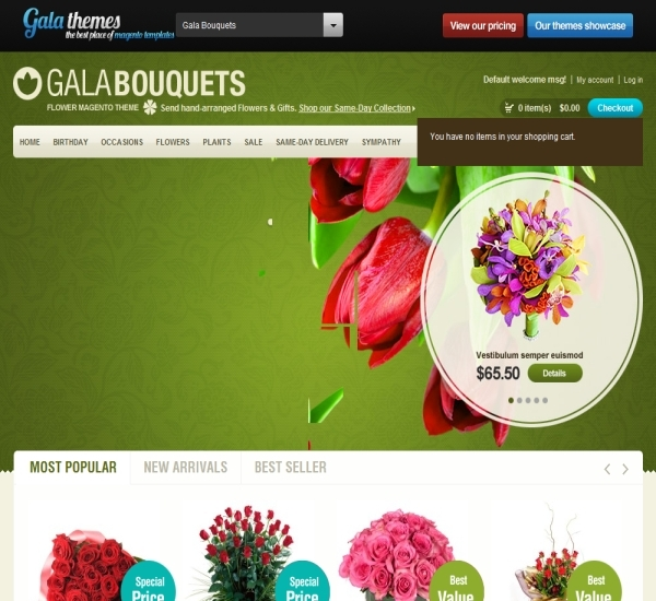Flower Magento Theme - Gala Bouquets