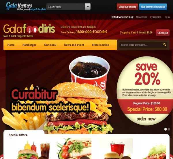 Food & Drink Magento Theme - Gala Foodiris