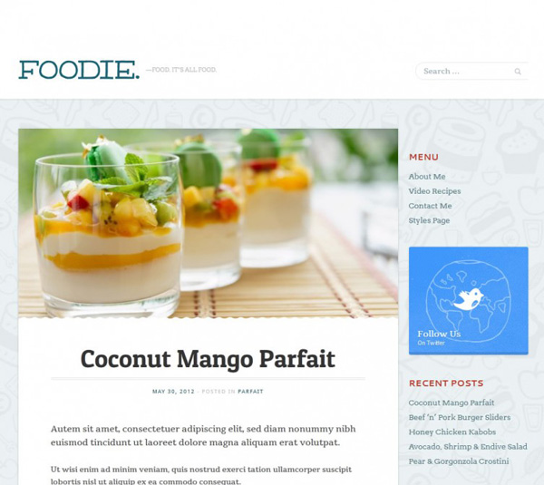 Mint Themes Foodie Theme