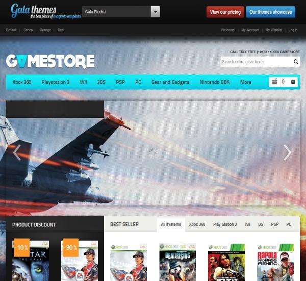 Game Store Magento Theme - Gala Electra