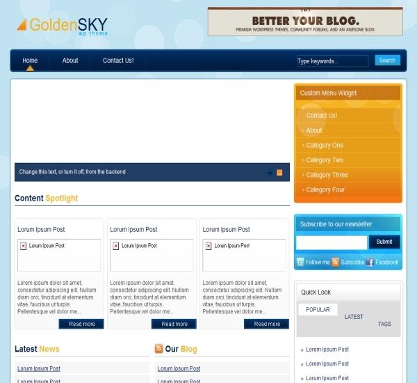 Zidalgo Golden Sky Theme