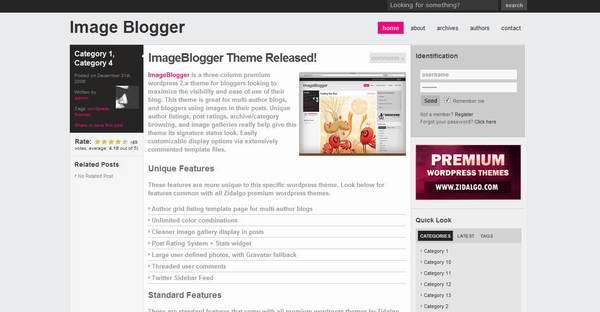 Zidalgo Image Blogger Theme