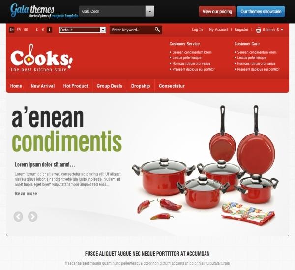 Kitchen Magento Theme - Gala Cook