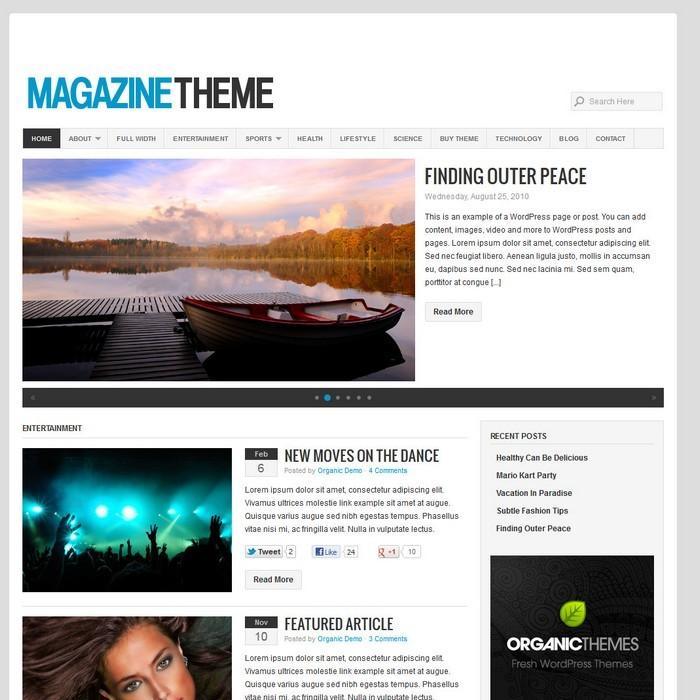 Organic Themes Magazine Theme