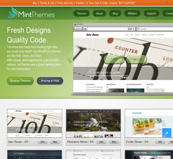 Mint Themes WordPress Themes