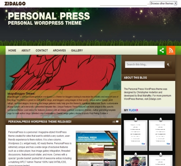 Zidalgo Personal Press Theme