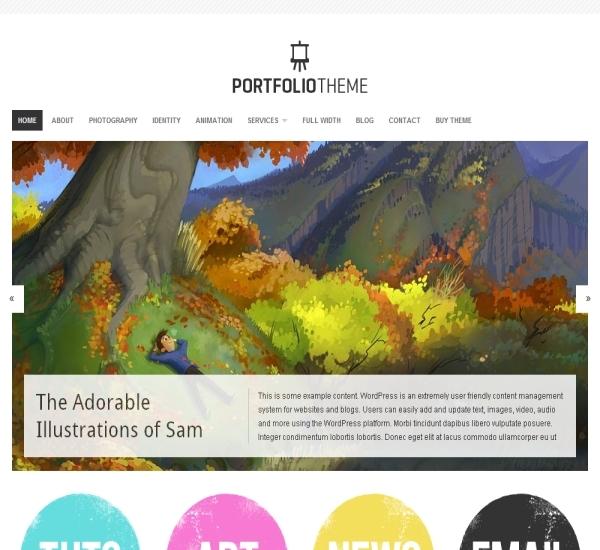 Organic Themes Portfolio Theme