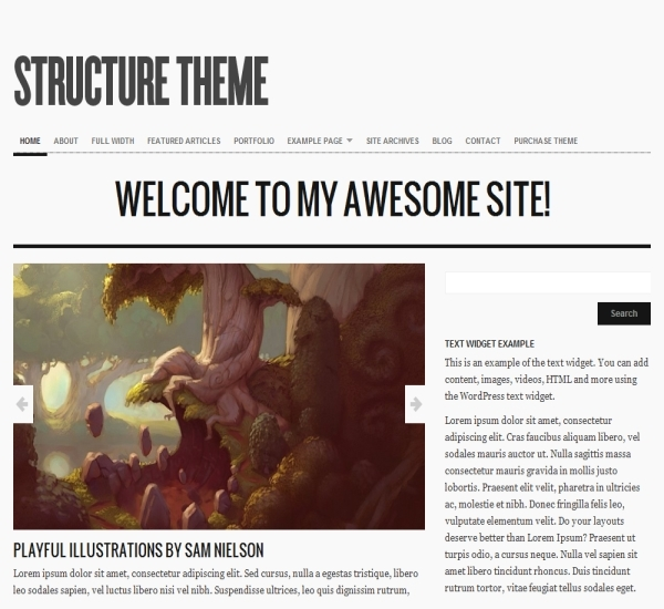 Organic Themes Structure Theme