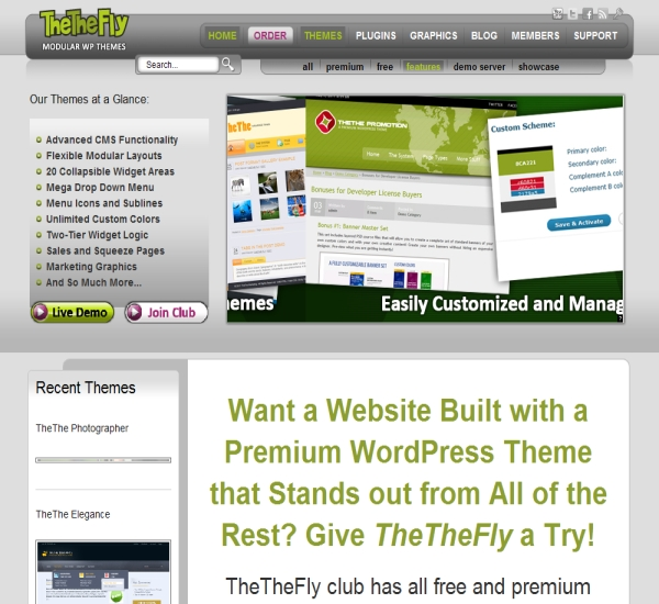 TheThe Fly WordPress Themes