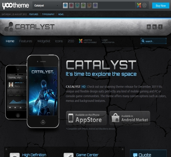 Yootheme Catalyst Joomla Template