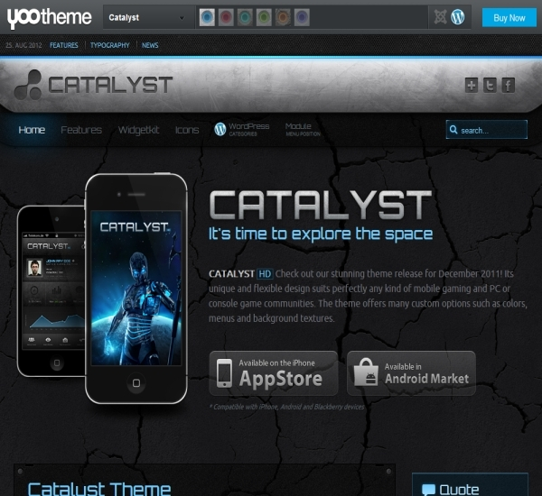 Yootheme Catalyst WordPress Theme