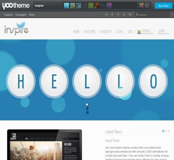 Yootheme Inspire Joomla Template