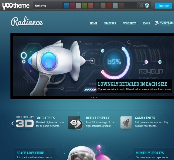 Yootheme Radiance WordPress Theme