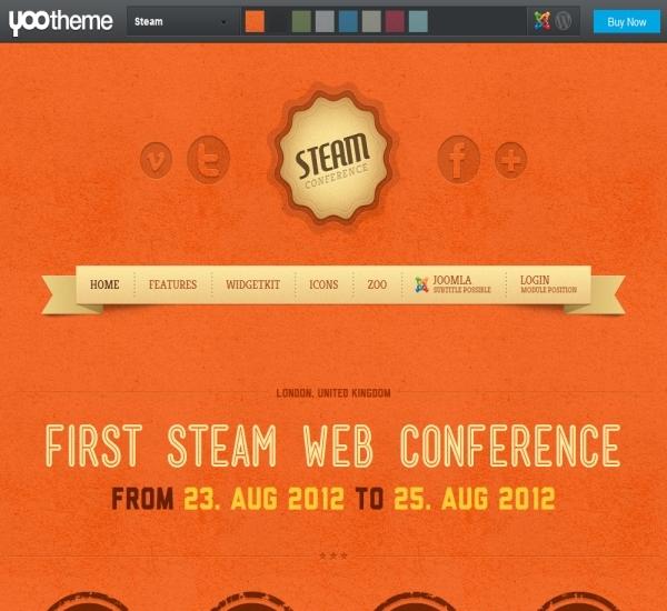 Yootheme Steam Joomla Template