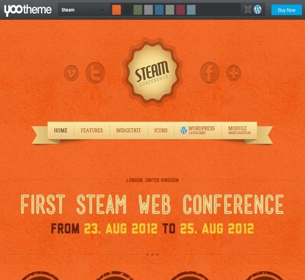 Yootheme Steam WordPress Theme