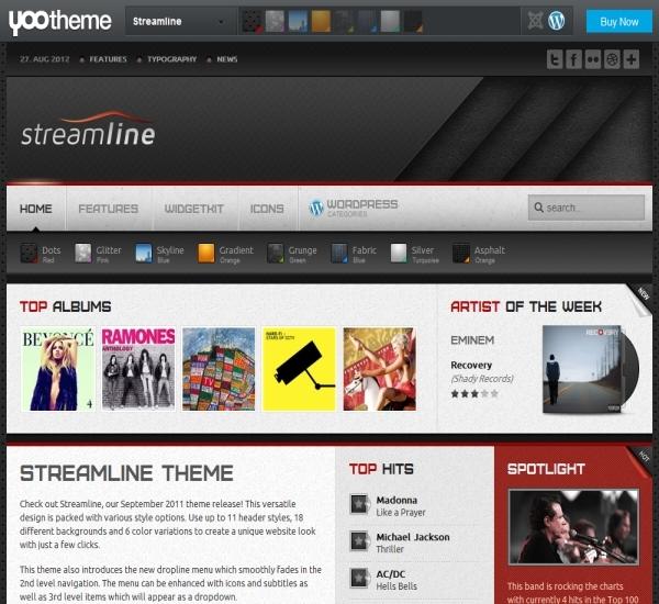 Yootheme Streamline WordPress Theme