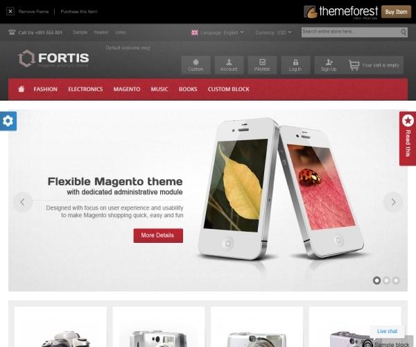 ThemeForest Fortis Magento Theme