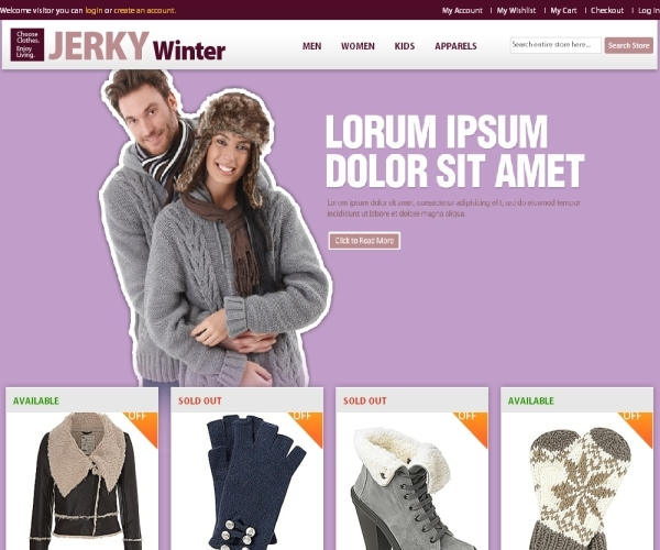 BugTreat Jerky Winter Magento Theme