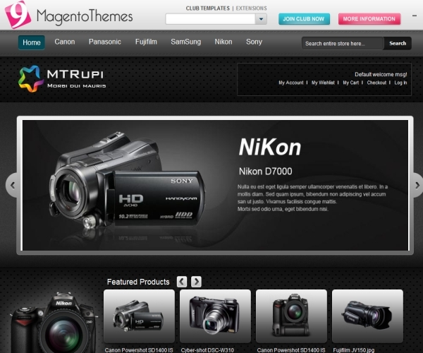 MT Rupi - Magento Camera Store Theme