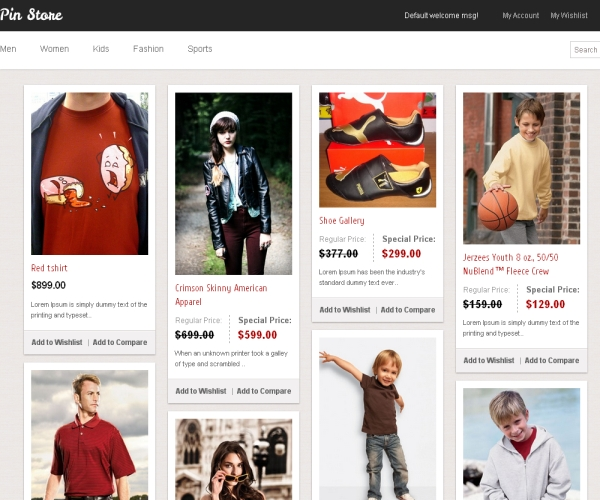 PinStore-Premium Magento Theme