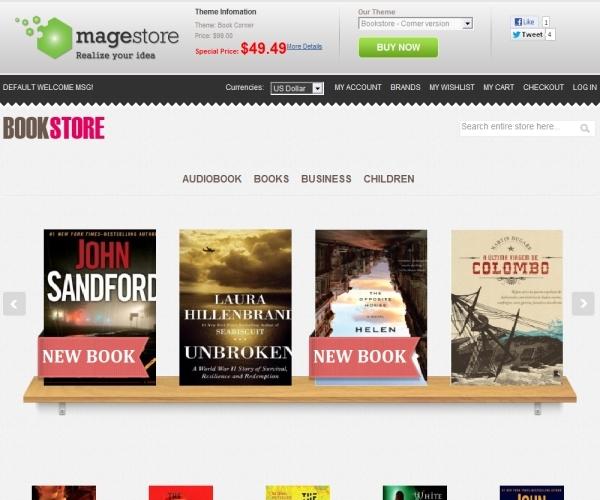 MageStore Book Corner Magento Theme