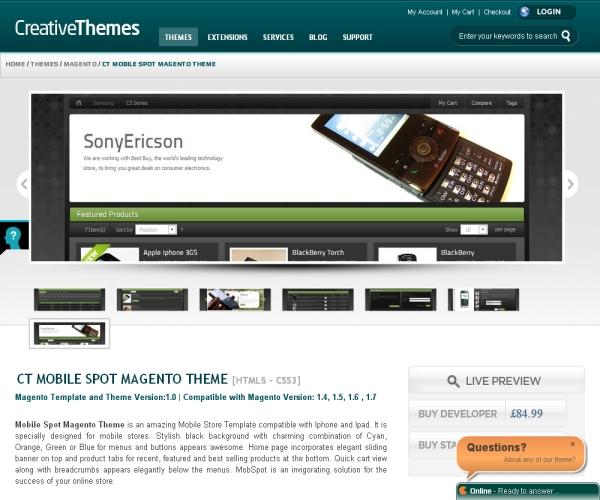 Mobile Spot-Premium Magento theme