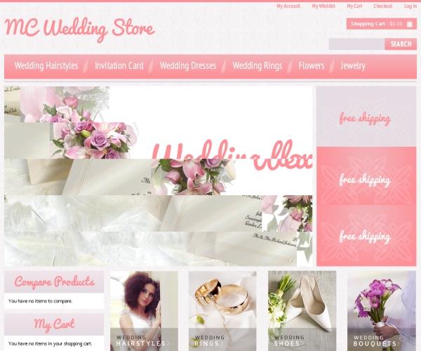 Wedding Store-Premium Magento Template