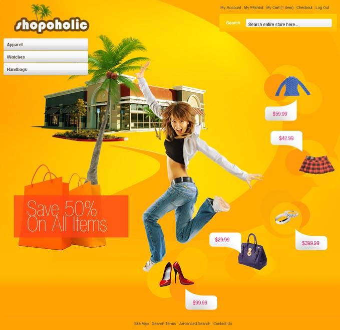 Shopaholic premium Magento theme