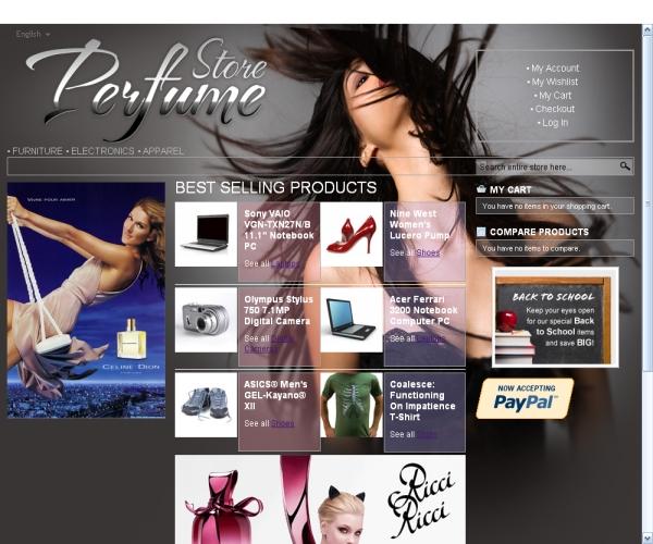 Perfume Store-Premium Magento theme for online perfume stores