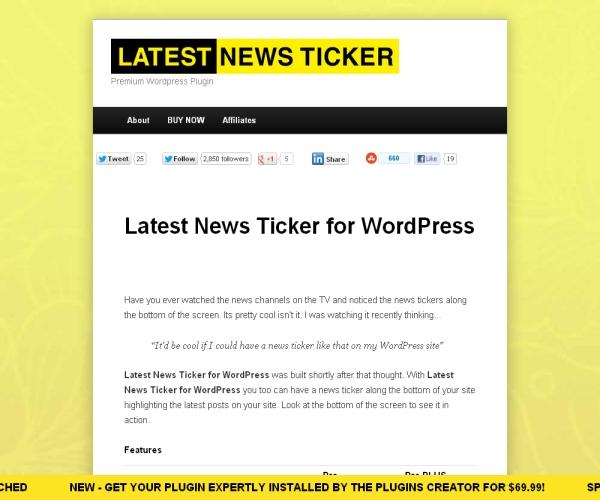 Latest News Ticker-Premium WordPress Ticker plug-in